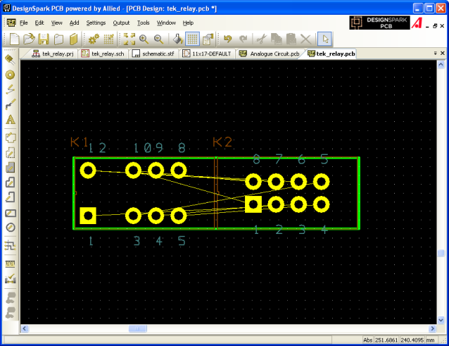 Closeup relay PCB